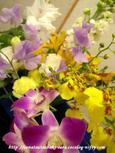 お別れ会の花